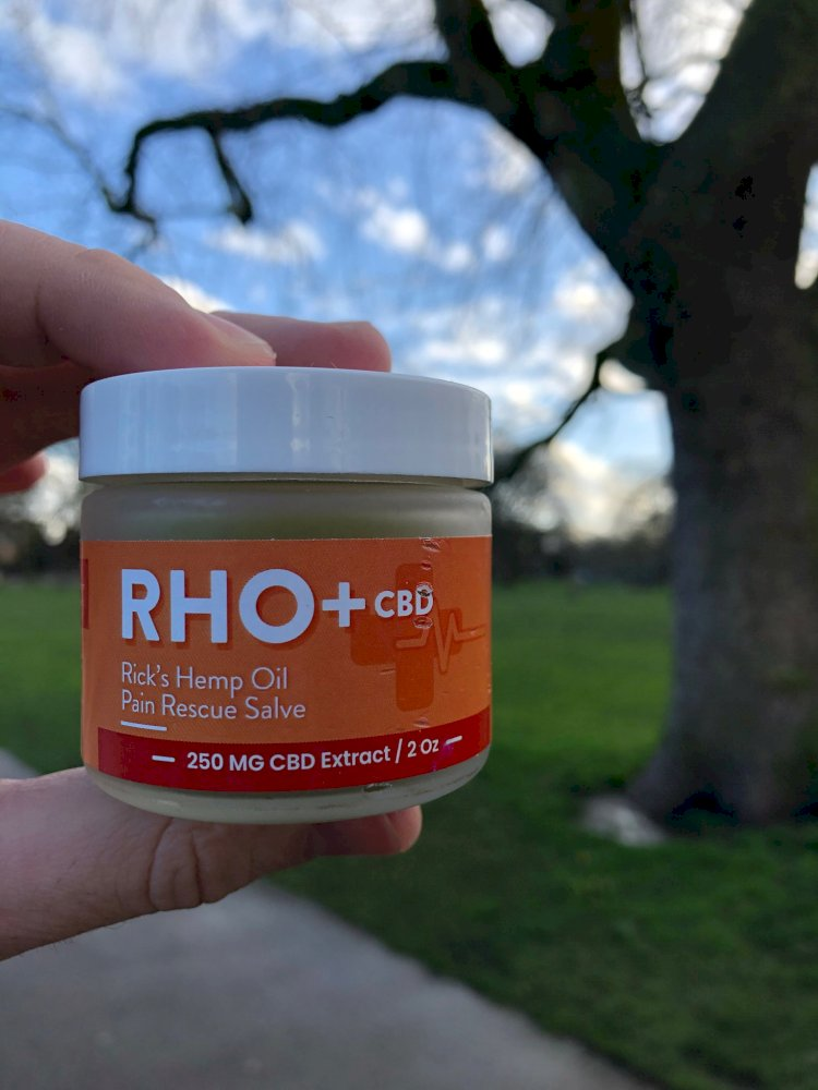 RHO Rescue Hemp Oil Salve 1500 MG 2 oz