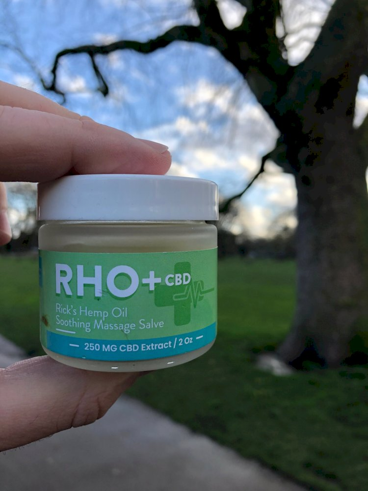 RHO+ White Tea & Lime CBD Massage Cream 250 MG CBD 2 oz